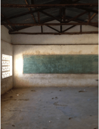 Classroom prior to the extensive renovation process.