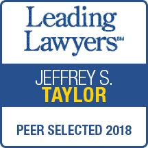 Jeff Taylor accepted as Leading Lawyer 2018